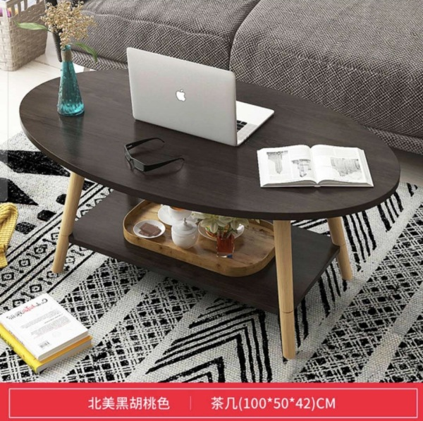 coffee table,side table,sofa table,nordic style,solid wood base,double-layer,extra storage,scratch resistant,antislip base,oval,round edge,classic white,marble white,