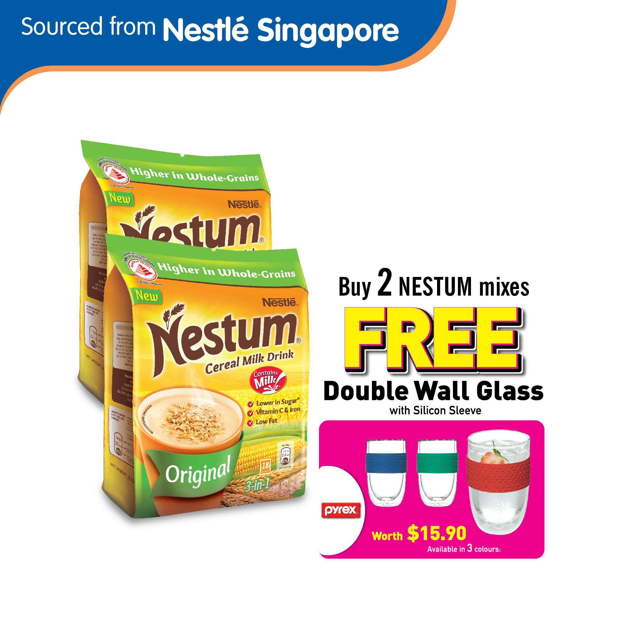 Nestum 3in1 Cereal Drink Original (2 Packs Free Pyrex Double Wall Glass) By Nestle Official Store.