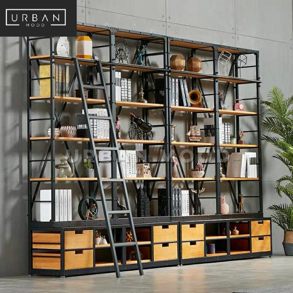 [Pre-Order] ARCHER Modern Industrial Solid Wood Library Shelf