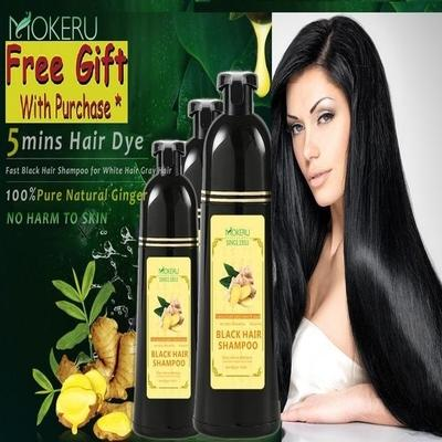 Ginger Black Hair Dye Shampoo 500ml By Gemmarella.