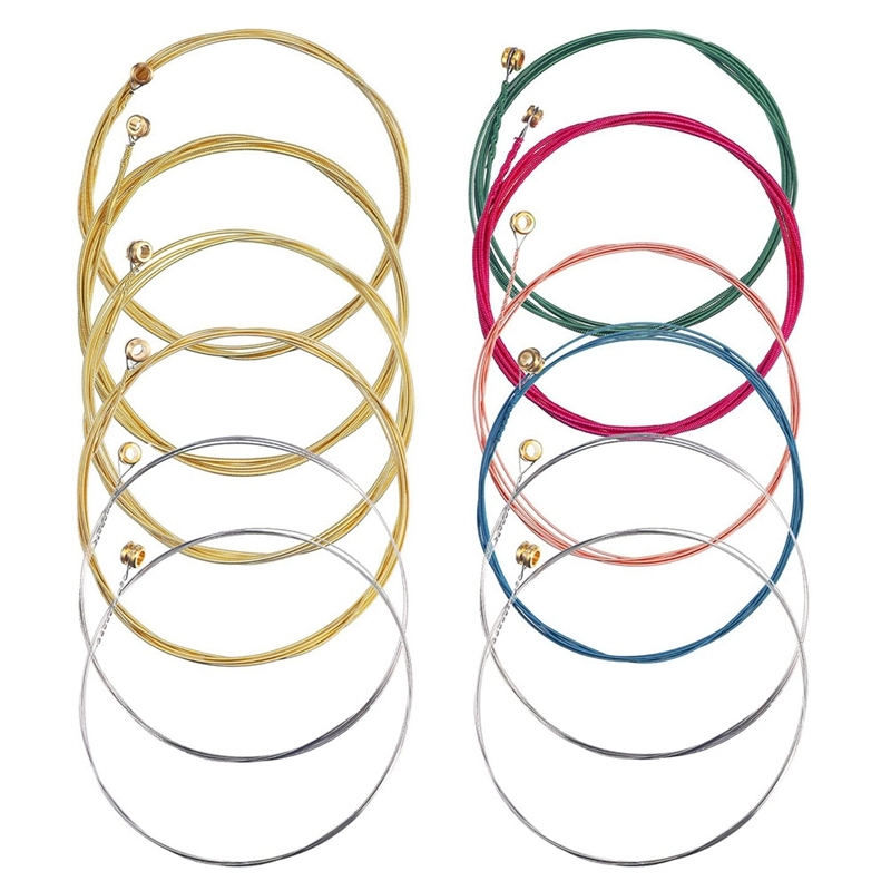 2 Sets of 6 Guitar Strings Replacement Steel String for Acoustic Guitar Guitar Changing Tool Malaysia