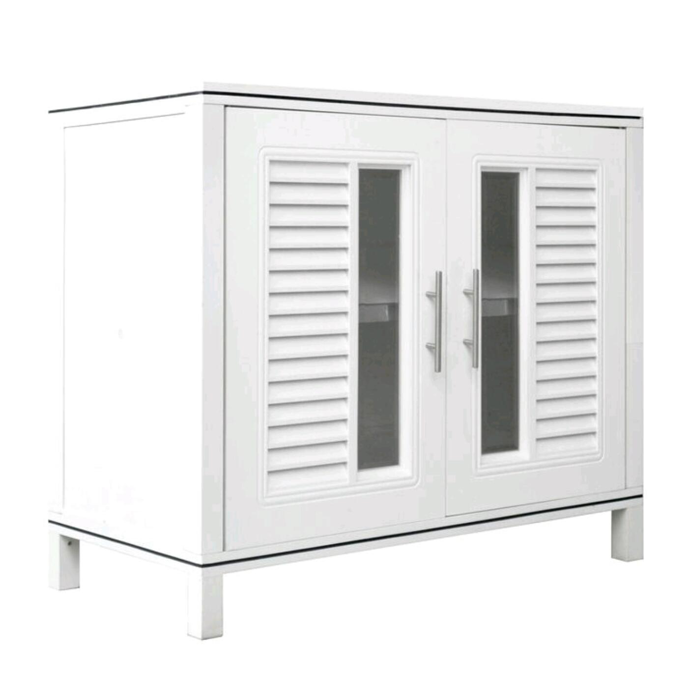 KING CUPBOARD 85 Waterproof Display Cabinet with Nano Coating (White)