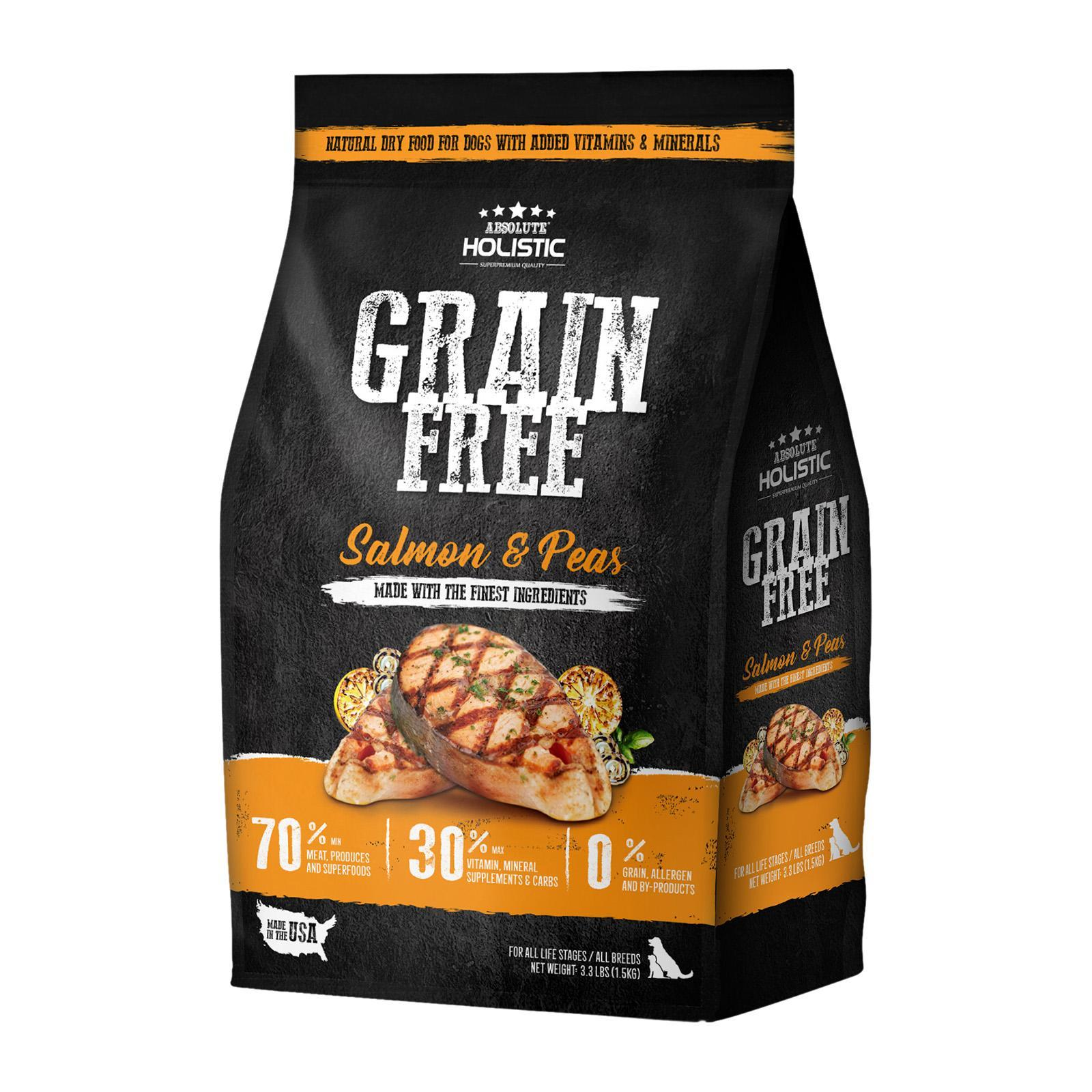 Absolute Holistic Grain Free Salmon And Peas Dog Food