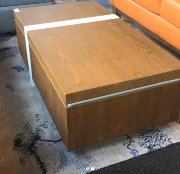 Wooden Veneer Coffee Table