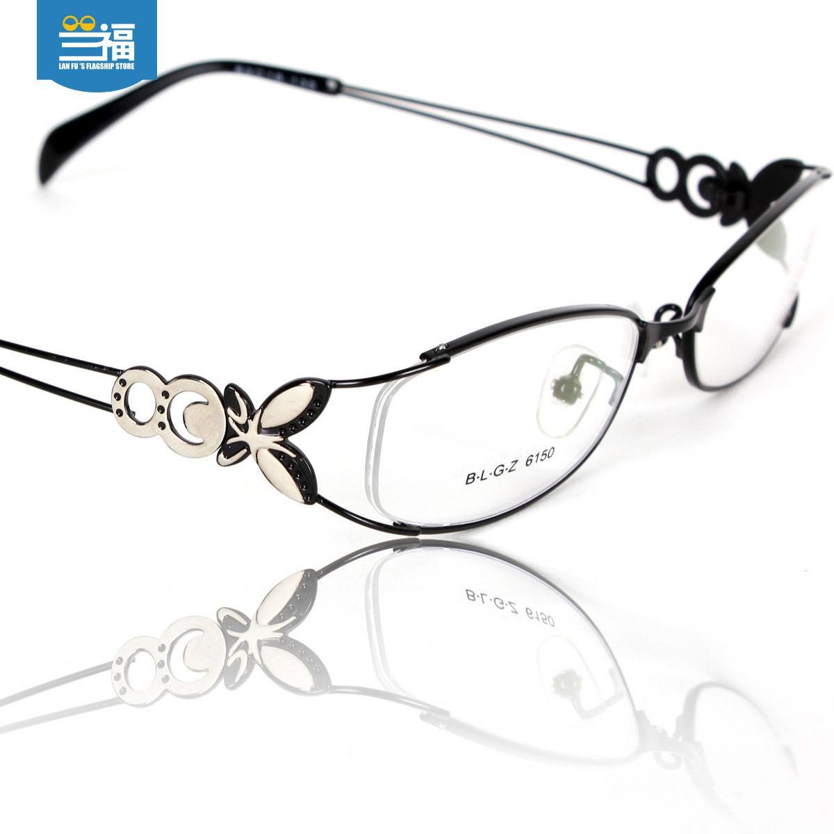 Bingkai kacamata wanita Retro optik dengan kacamata tidak berderajat Kotak Setengah 眼睛框 Gaya Korea Bingkai Kacamata produk jadi kacamata minus
