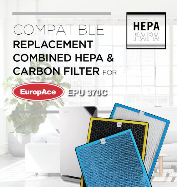 EuropAce EPU 370C Compatible HEPA, Carbon & Catalyst Filters [7 Days Return] [Free Alcohol Swab] [SG Seller] [HEPAPAPA] Singapore