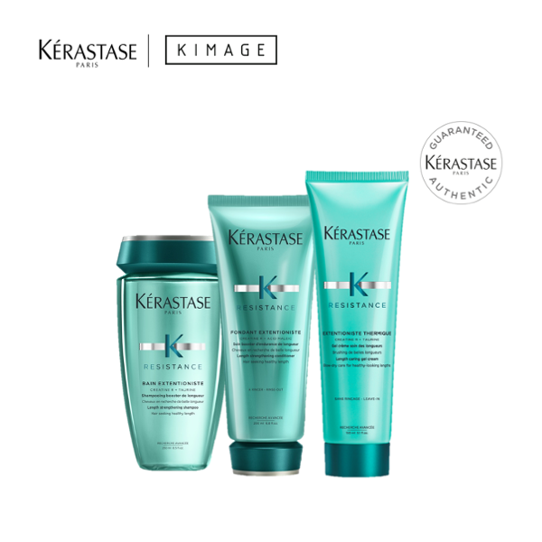 Buy Extentioniste Hair Lengthening Deep Treatment Hair Care Set - Bain Extentioniste Shampoo, Fondant Extentioniste Conditioner, Extentioniste Thermique Blow Dry Primer for Damaged Hair by Kerastase Singapore