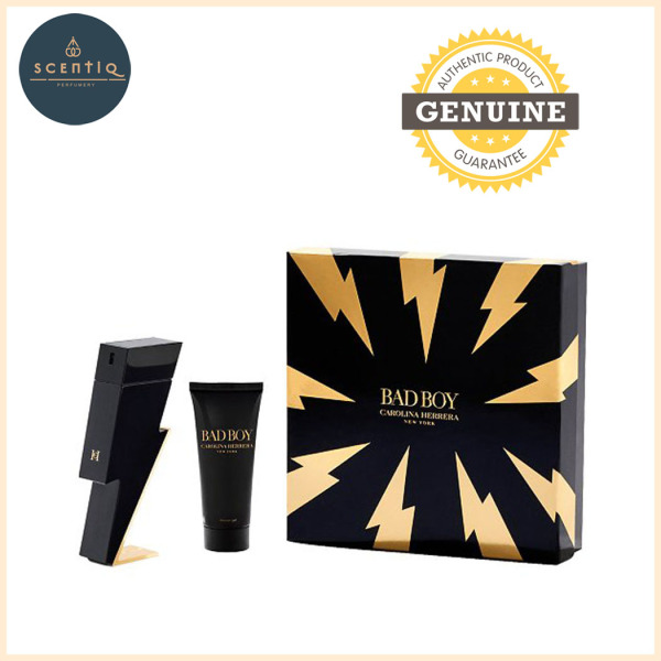 Buy CH BAD BOY EDT 100ML + SG 100ML - 8411061979990 Original CAROLINA HERRERA Perfume Gift Set Singapore