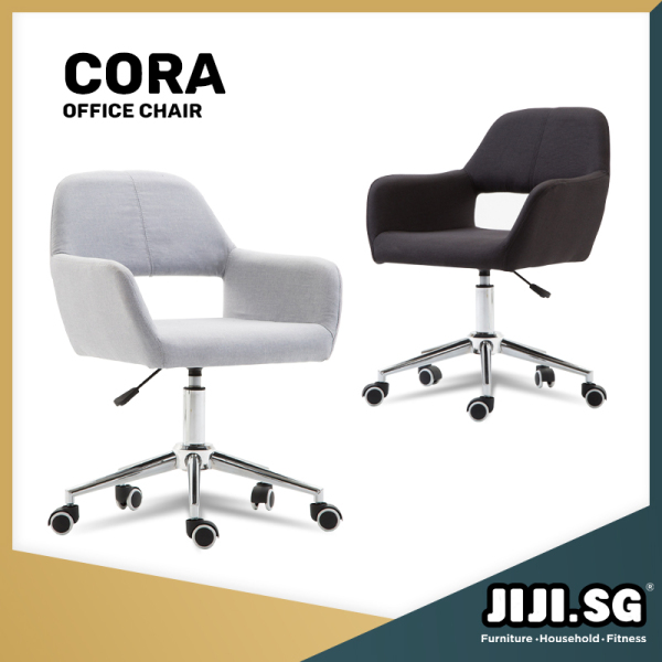 (Delivered in 3Days)(JIJI.SG) Cora Office Chair - Office chair/Study chair/Gaming chair/Ergonomic/ Free 12 Months Warranty (SG) Singapore