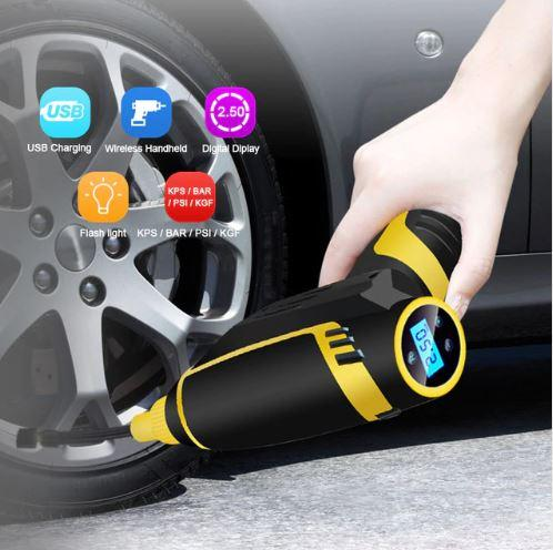 [sg Warranty]portable Air Compressor Tire Inflator,150psi/1000kpa/12v Car Air Compressor Pump, Tire Inflator, Preset Tire Pressure, Led Light,digital Lcd,built-In 2200mah Rechargeable Battery For Car Bicycle Scooter By Young And Shine.
