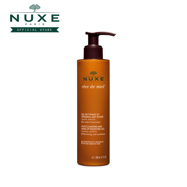 Buy NUXE Reve de Miel Face Cleansing and Make-Up Removing Gel (200ml) Cleanses, Soothes, Softens [Dry & Sensitive Skin] Singapore
