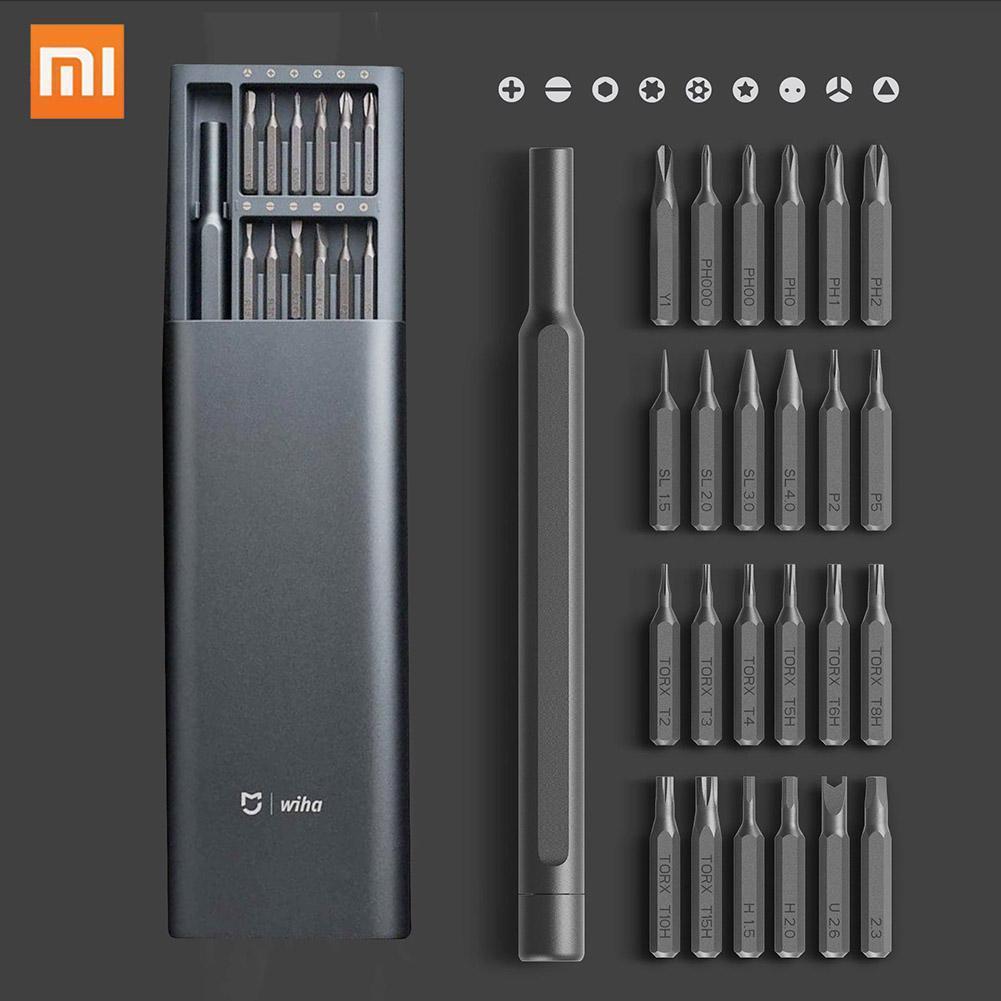 New Original Xiaomi Mijia Wiha Daily Use Screwdriver Tool Kit 24 Precision Magnetic Bits AL Box Screw Driver smart home Set Gift  Xiaomi MiJia Wiha Screwdriver Set Grey