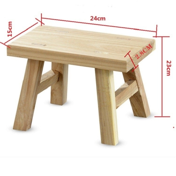 Footstool Low Stool with a Small Solid Wood Bench Adult Wooden Small Square Stool Head Home Children Chairs and Stools Teapoy Table