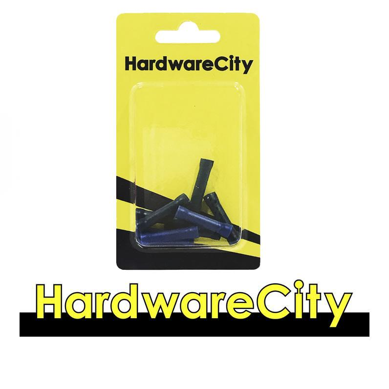 HardwareCity Insulated Crimp Parallel Connectors, Blue (14AWG - 16AWG), 10PC/Pack