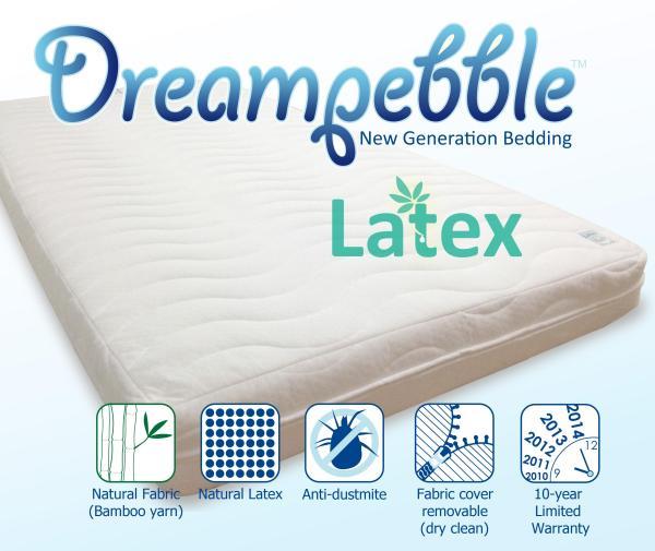 Dreampebble Full Natural Latex 6 Mattress