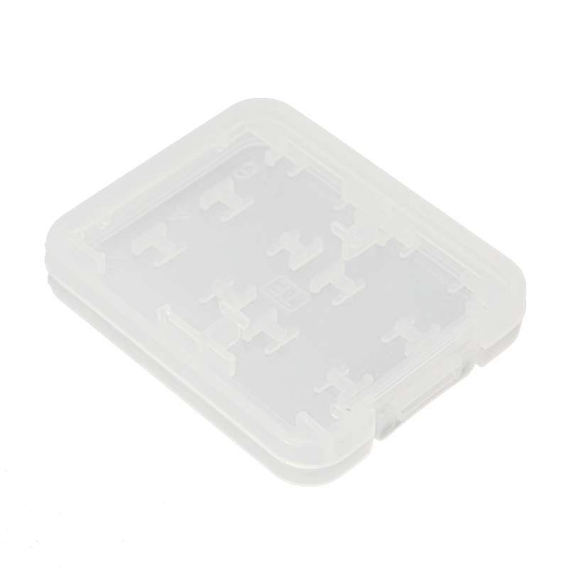 Giá 8 in 1 Plastic Micro SD SDHC TF MS Memory Card Storage Case Box Protector Holder