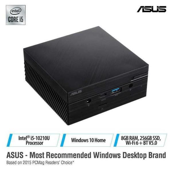 ASUS MINI PC PN62-B5507ZT Intel® Core™ i5-10210U Processor, 8GB 2666MHz DDR4, 256GB NVME SSD, Windows 10 Home