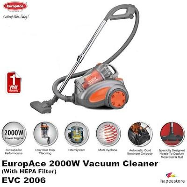 Europace 2000W Multi-Cyclone Vacuum Cleaner with HEPA Filter EVC2006P * 1 YEAR Warranty Singapore