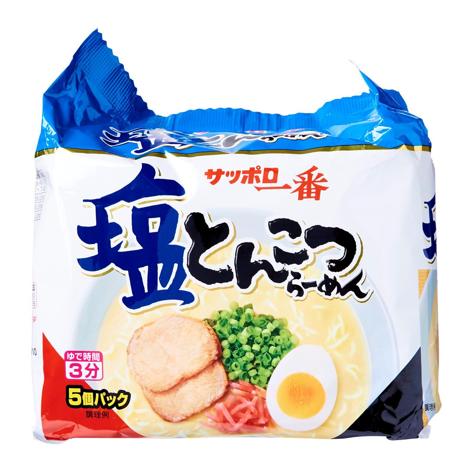 Sapporo Ichiban Salt Porkbone Broth Shio Tonkotsu Instant Ramen Noodles