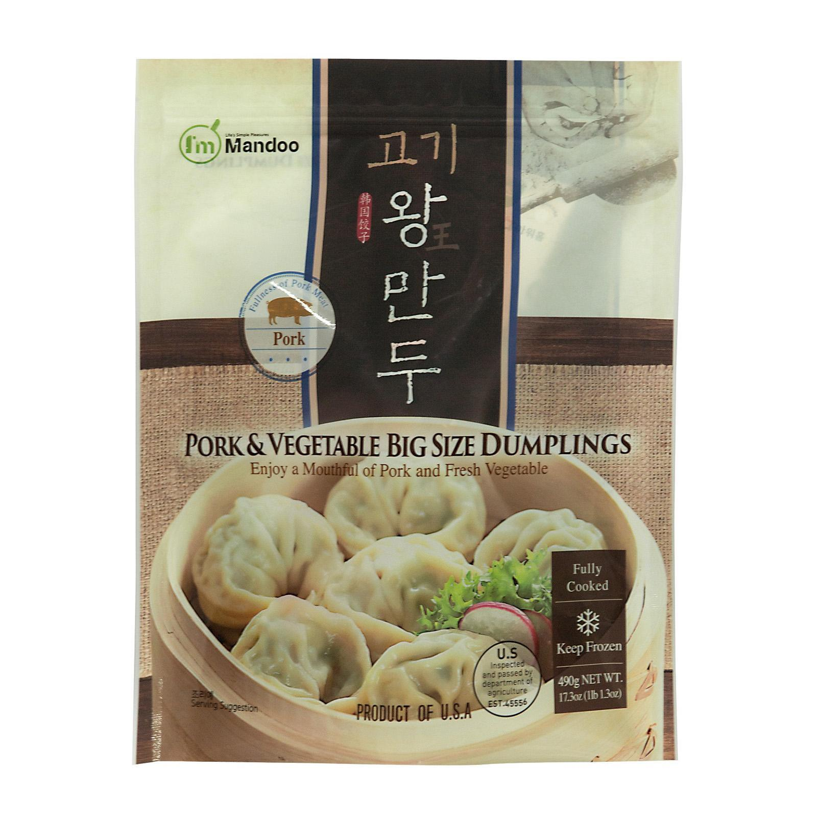 I'm Mandoo Pork And Vegetable Big Size Korean Dumplings - Frozen