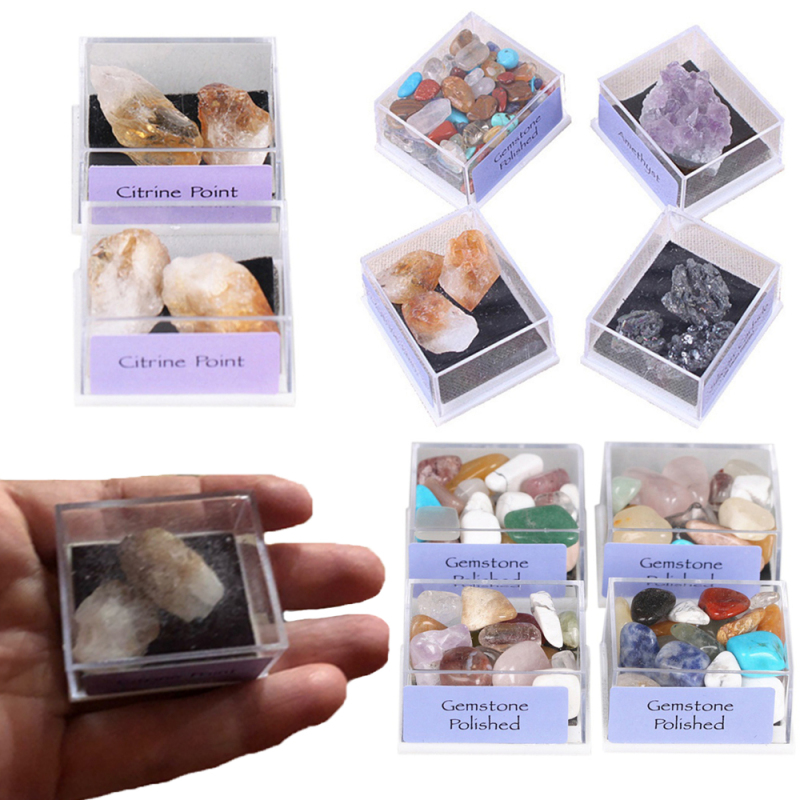 1* Jewelry Making Raw Gemstone Home Decoration Geography Teaching Natural Rough Ore Mineral Specimen Quartz Crystal Box-packed Malaysia