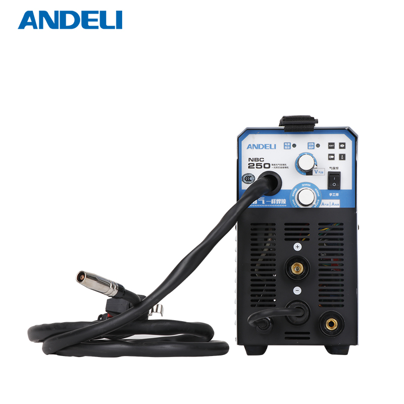 ANDELI Digital Household Single Phase 220V MIG-250ME MIG/MMA 2 in1 Welding Machine MMA Welding Flux Welding Gasless Welding Inverter Welder