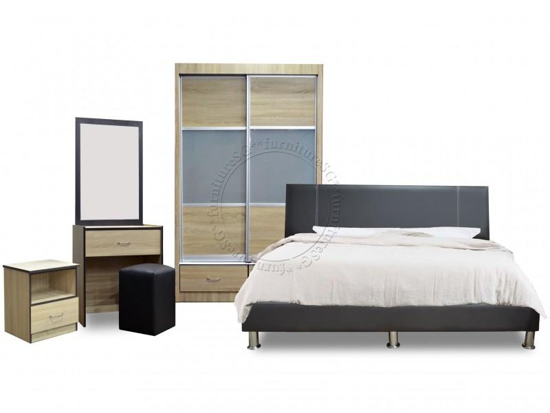 (FurnitureSG) Bedroom Set with Free Mattress