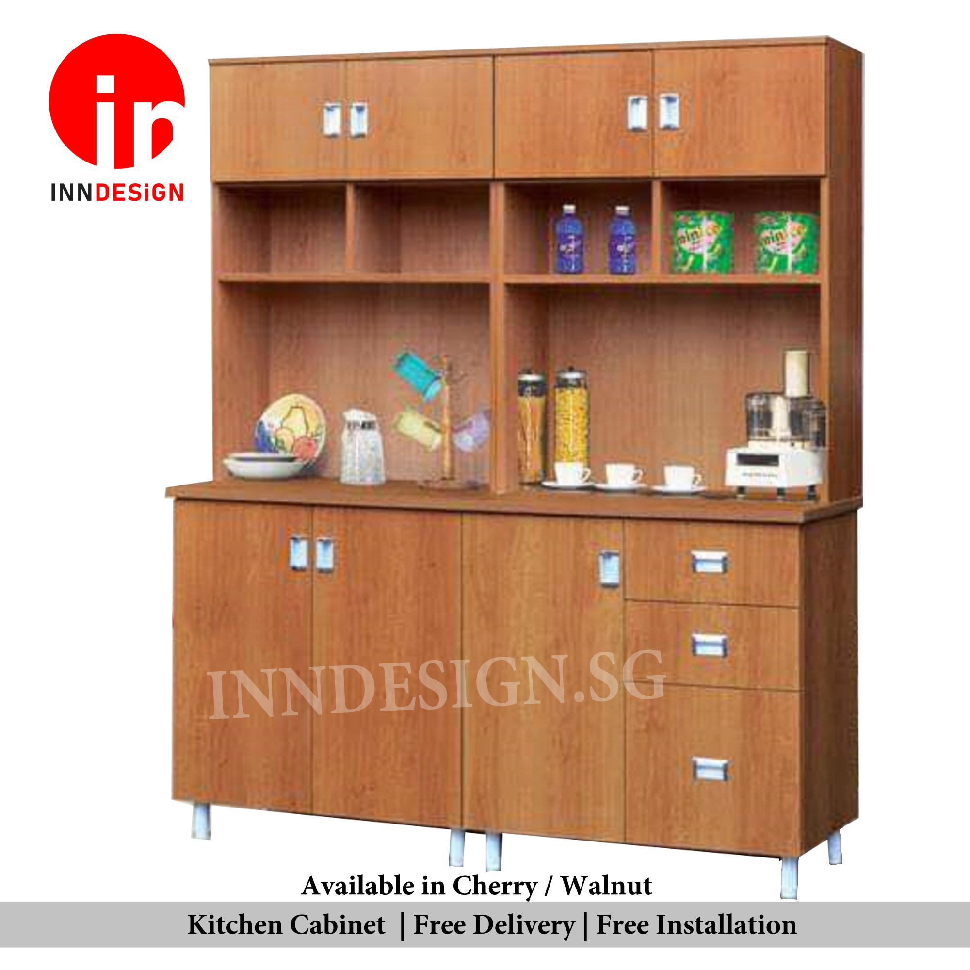 Samuel 3Doors 3 Drawers With Top Solid Plywood Kitchen Cabinet (Free Delivery and Installation) (Deliver Within 1 Working Day)