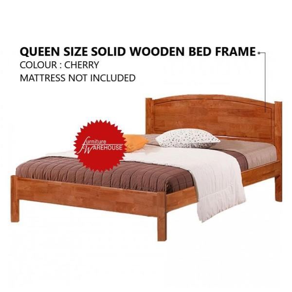 James Queen Size Solid Wooden Bed Frame - Cherry Colour