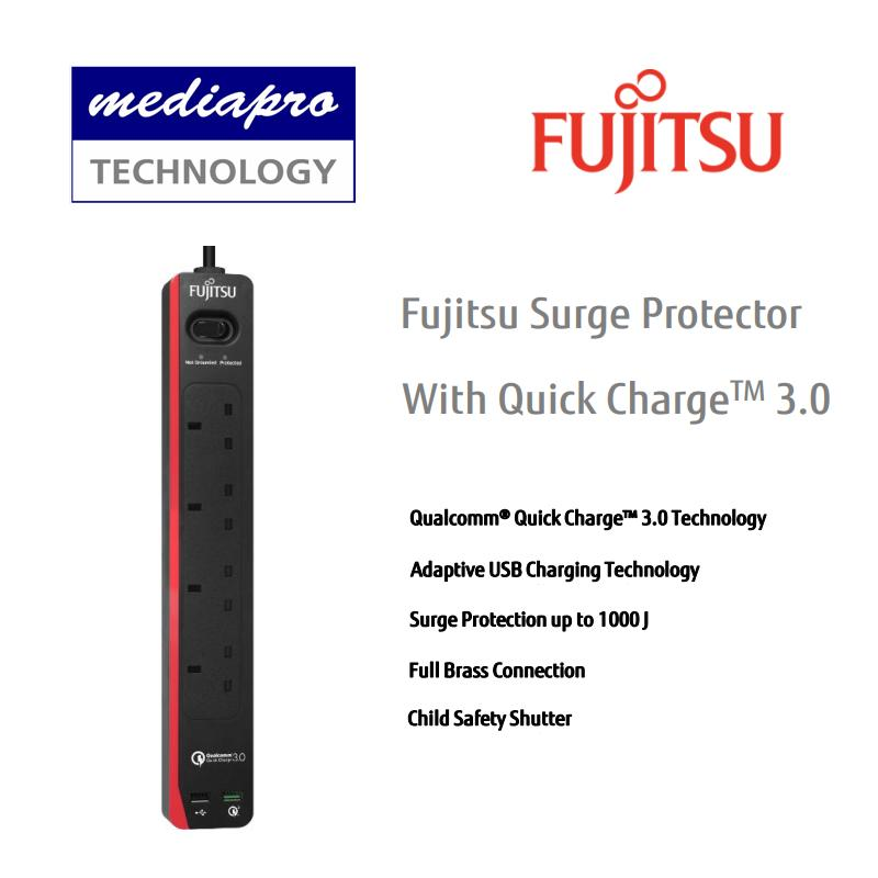 FUJITSU 4-Way Surge Protector With Quick Charge 3.0 SP421