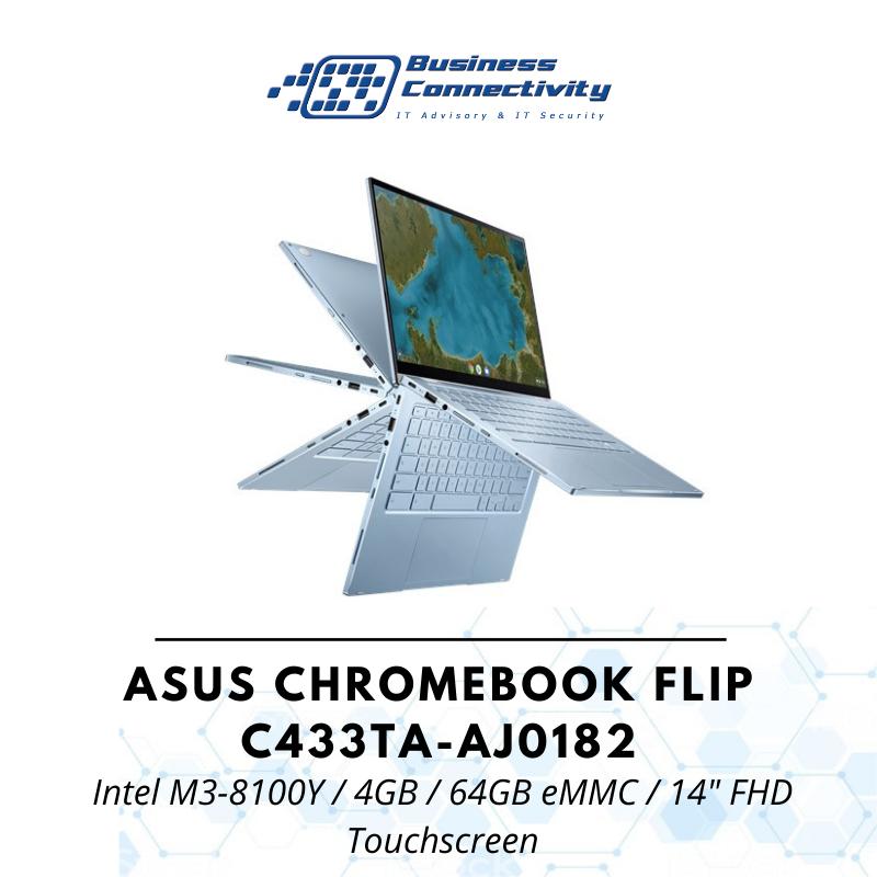 ASUS Chromebook Flip C433TA-AJ0182 / Intel M3-8100Y / 4GB / 64GB eMMC / 14 FHD Touchscreen