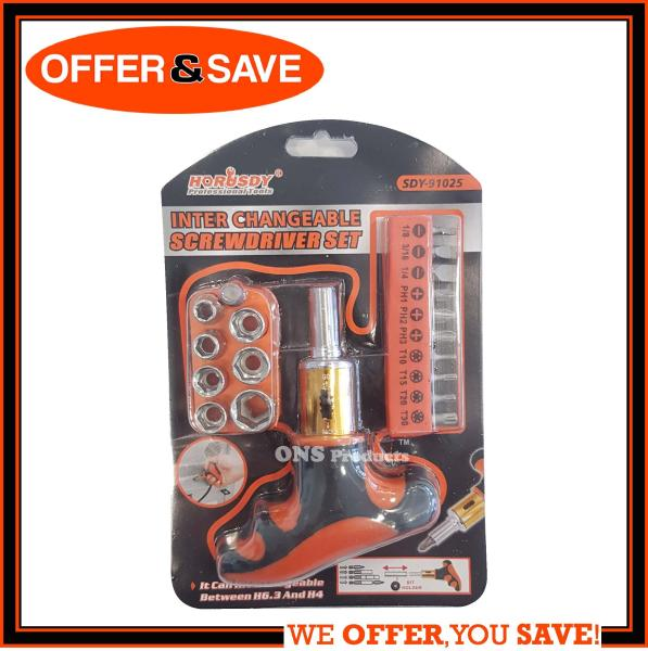 HORUSDY 19-in-1 Precision Screwdriver Toolkit / Ratchet Screwdriver Set - SDY-91025