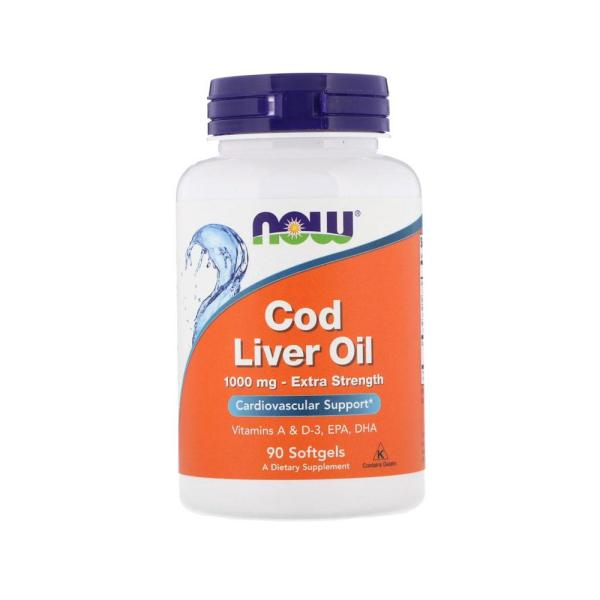 Buy Now Foods, Cod Liver Oil, Extra Strength , 1,000 mg, 90 Softgels Singapore