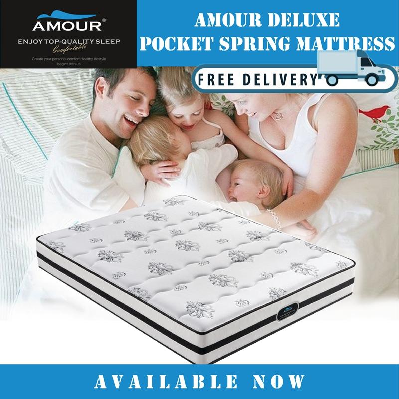 AMOUR BRAND 12 INCHES SWEET DREAM POCKET SPRING MATTRESS/ QUEEN AND KING SIZE AVAILABLE