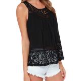 Get Cheap Egc 2016 New Fashion Summer Women Hollow Out Crochet Lace Tank Tops Casual Sleeveless Tee Shirt Beach Loose Top Femme Black Intl