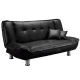 Blmg Eileen Sofabed Black Pu Free Delivery Oem Discount