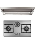 Electrolux Efp9520X 90Cm Telescopic Hood Ehg7332X Stainless Steel 3 Burner Hob Package Cheap