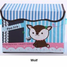 Embroidered Foldable Storage Box for Toys (Fox)