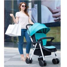 Buy European Design Baby Toddler Infant Stroller Pram Colour Fresh Green Lightweight Compact Foldable Adjustable Seat To Sleep Sit 5 Point Safety Harness Lycra Canopy Built In Shock Absorber Eva Wheels Easy Carry Bus Mrt Car Model Limousine Traveller Cheap On Singapore