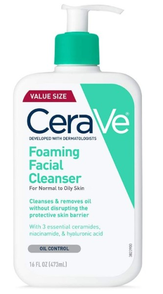 Buy CeraVe Foaming Facial Cleanser for Normal to Oily Skin, Fragrance Free 16oz Singapore
