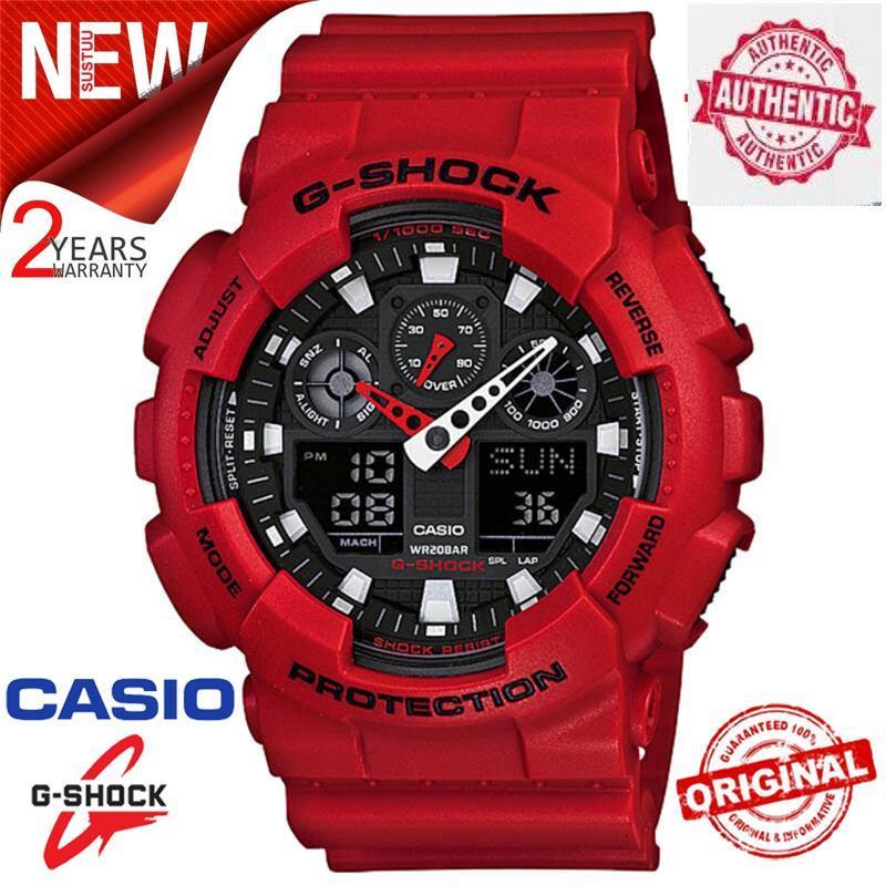 Original G Shock GA-100B-4A Men Sport Digital Watch 200M Waterproof and Shockproof World Time LED Auto Light Wrist Sport Digitals Watches with 2 Year Warranty GA100/GA-100 Malaysia