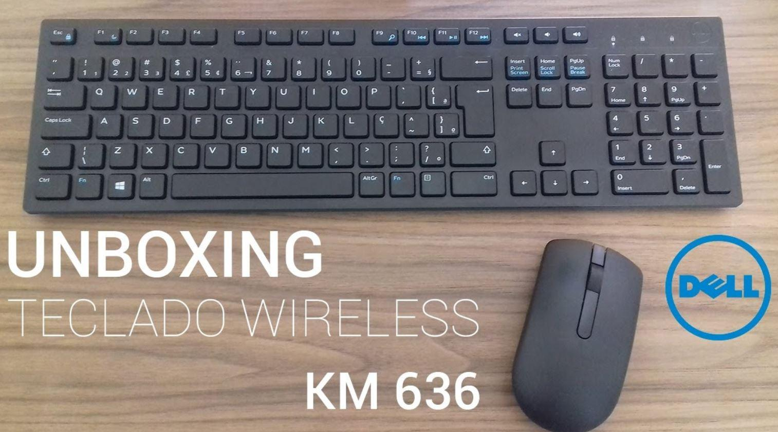 New Dell Wireless Keyboard and Mouse KM636 Singapone
