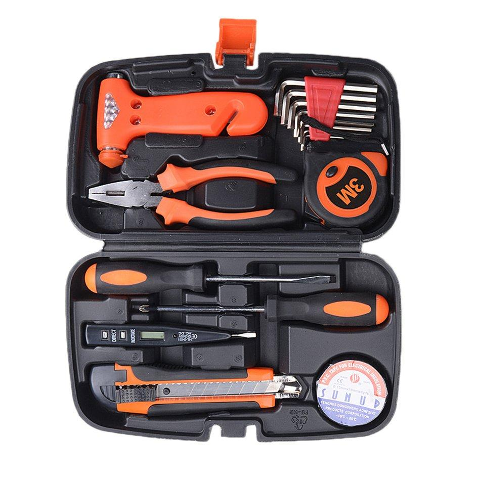 Cozy 9PCS/SET Motorcycle Car Repair Tool Box Precision Ratchet Wrench Set Tool Kit