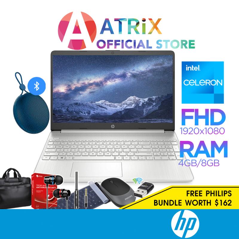 【Free Office 365】HP Laptop 15s 15s-fq0500TU | 15.6inch FHD IPS | Intel Celeron N4020 | 4GB DDR4 RAM | 128GB SATA HDD | Intel UHD Graphics | Win10 | 1Year HP Onsite Warranty
