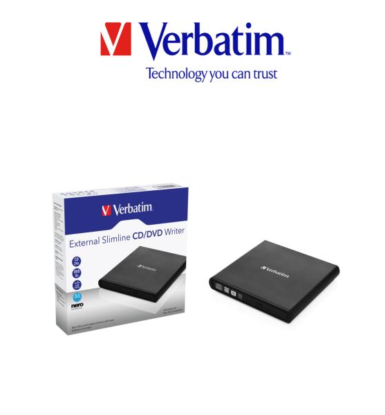 Verbatim External Slimline CD/DVD Writer USB 2.0 Local SG Warranty 98938