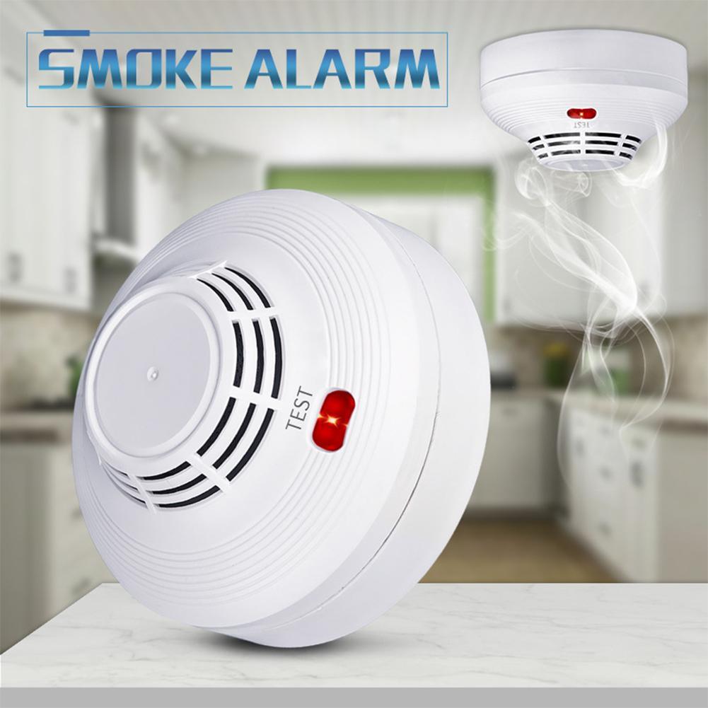 Photoelectric Smoke Alarm LED Light Flashing & Sound Warning Smoke Alert Detector for Home School Hotel