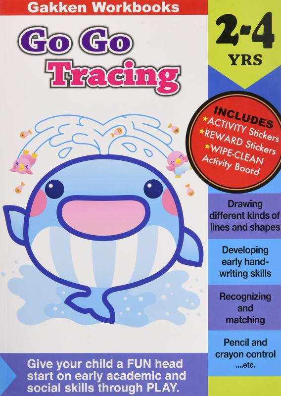 *Activity book* Go Go Tracing 2-4 (Gakken Workbooks)
