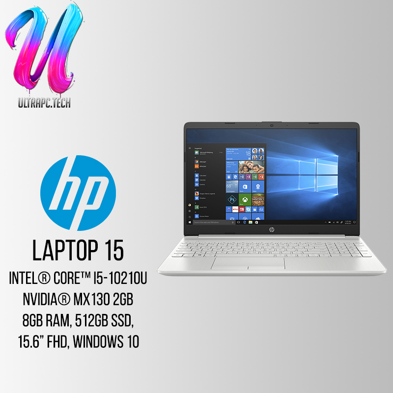 [SAME DAY DELIVERY]HP Notebook - 15s-du1023tx - 8NW49PA (Intel Core i5 -10120U, 8GB Ram, 512GB Pcie SSD, Nvidia Geforce MX130, 15.6 FHD, win 10 Home) 2Yrs Wty