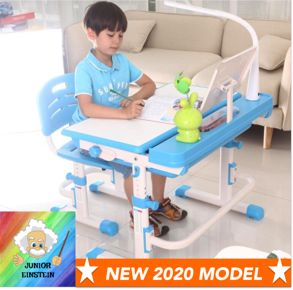 ★★ NEW 2020 MODEL ★★Junior Einstein Multi-Feature Ergonomic Study Table for Kids aged 3-18 ★Height adjustable ★6-Month Local Warranty