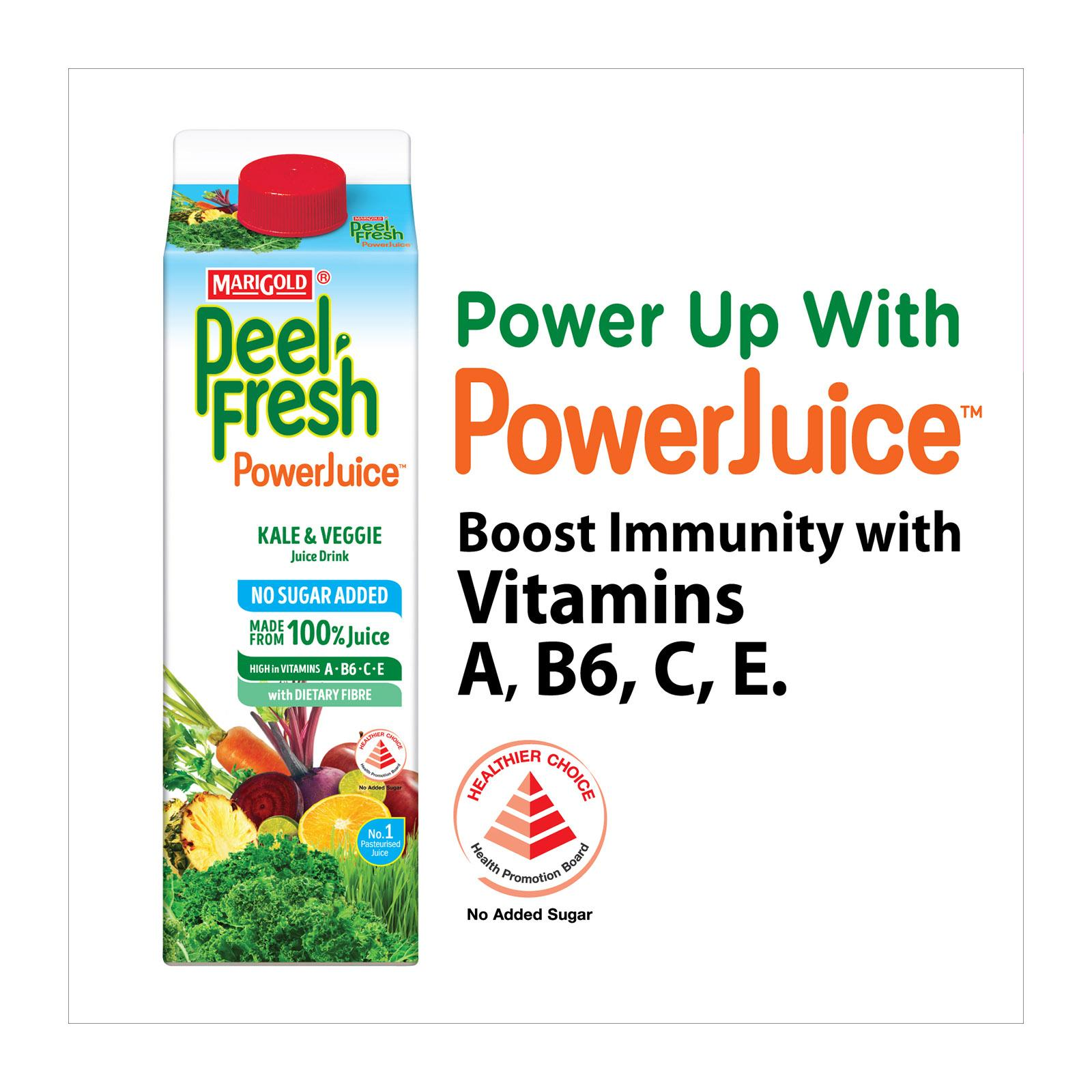 MARIGOLD Peel Fresh No Sugar Added Juice Drink - Kale and Veggie